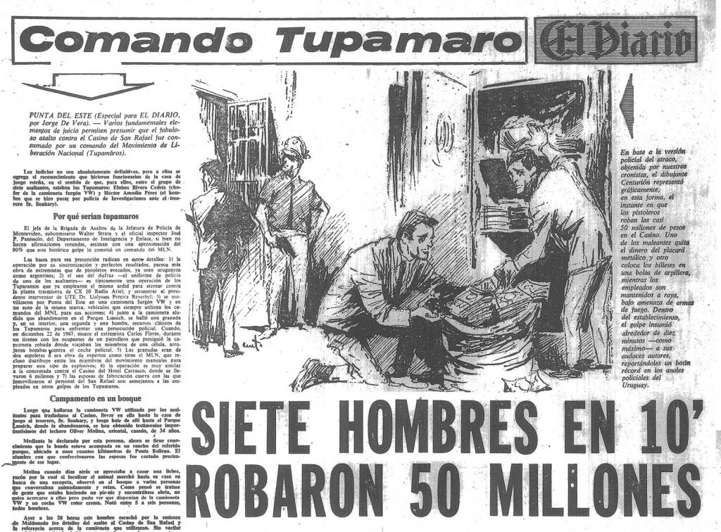 "H εφημερίδα ""El Diario"" αναρωτιέται πώς 7 κομμάντος Τουπαμάρος λήστεψαν 50 εκ.μέσα σε 10 λεπτά"